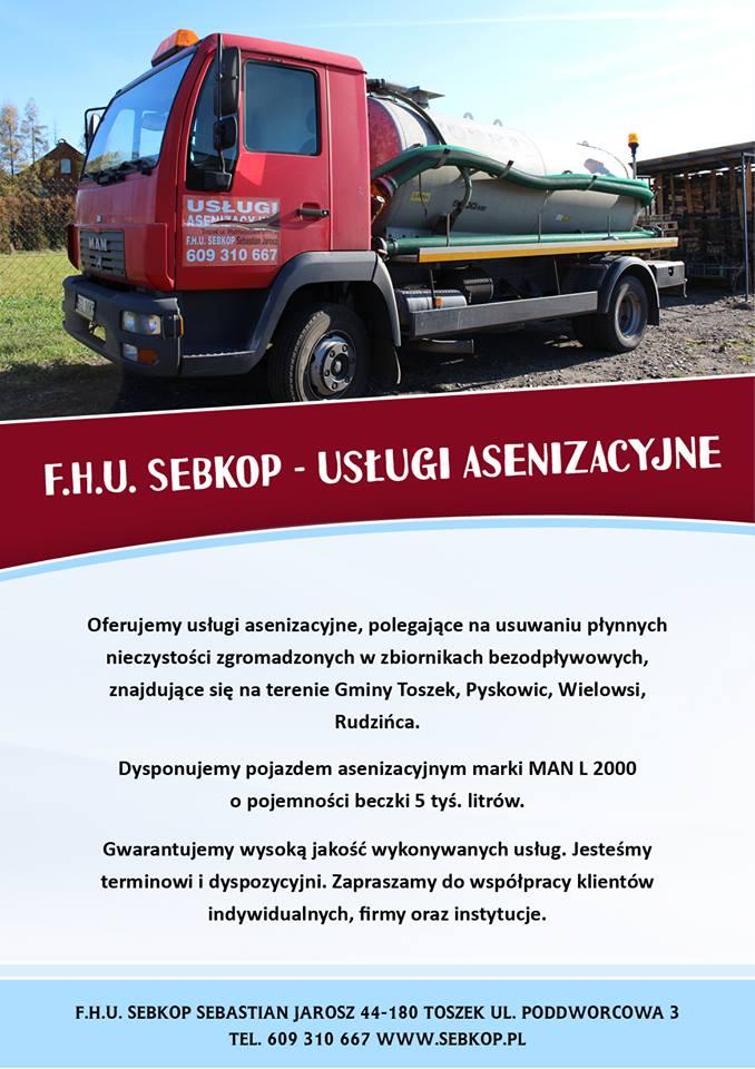 Usługi asenizacyjbe - wywóz szamba